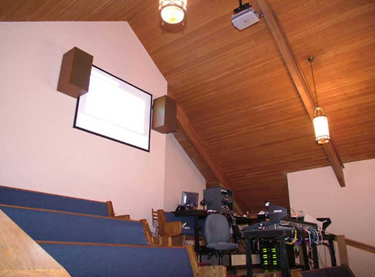 Frederick Church of the Brethren Rear Projection Screens