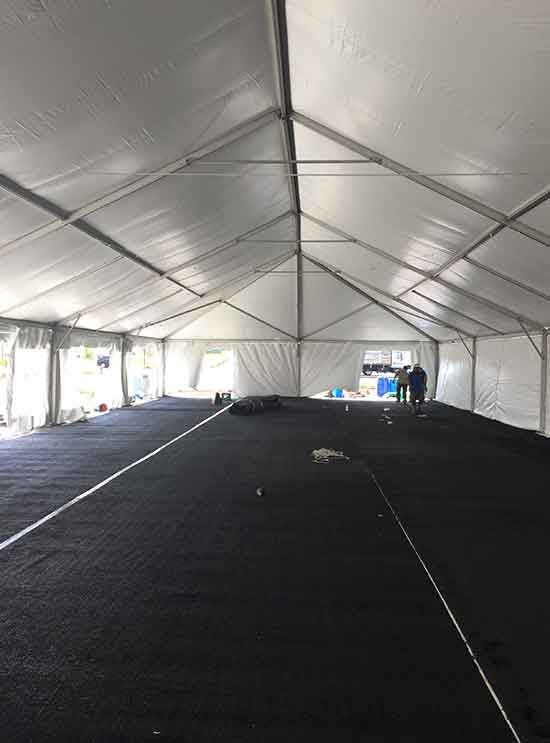 Tent rental for ribbon cutting event