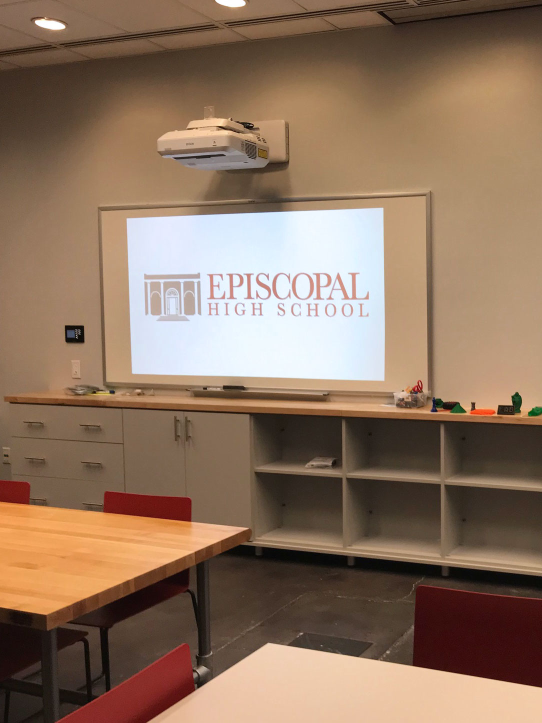Episcopal High School Robotics Lab Projector